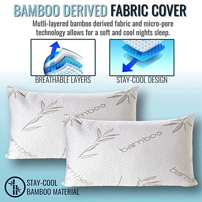 King Size Bamboo Memory Foam Pillow King Bamboo Pillow